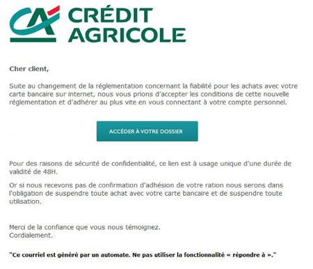 arnaque credit agricole